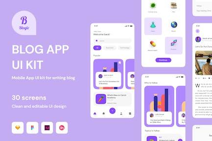 Blogie -  News Platform Mobile Apps UI Kit