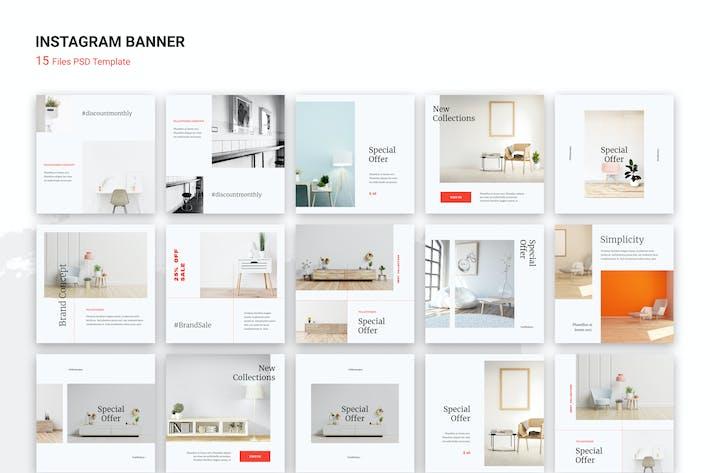 Thumbnail for bannière Instagram pour meubles d'intérieur minimaliste