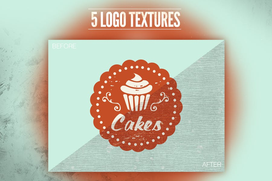 Vintage Old Logo Texture - product preview 0