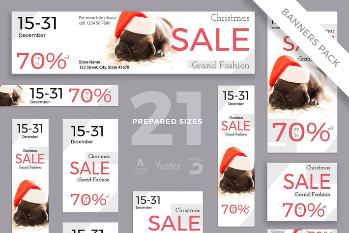 Thumbnail for Christmas Sale Banner Pack Template