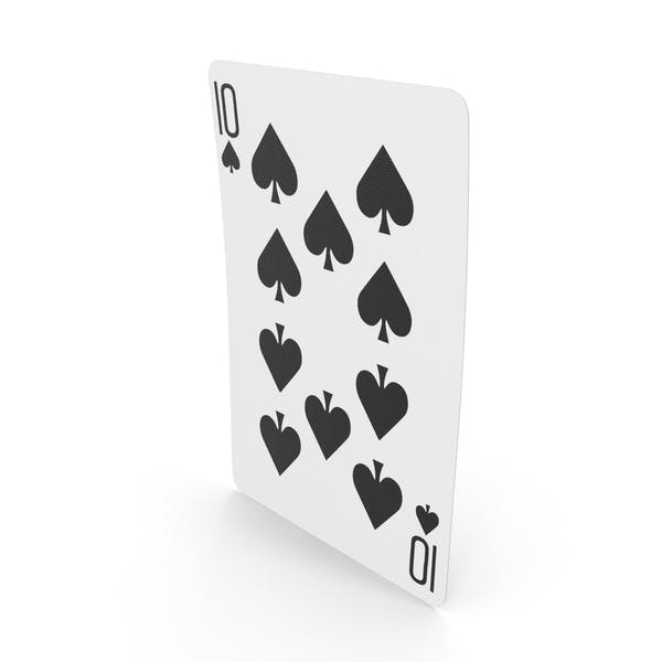 Playing Cards 10 of Spades