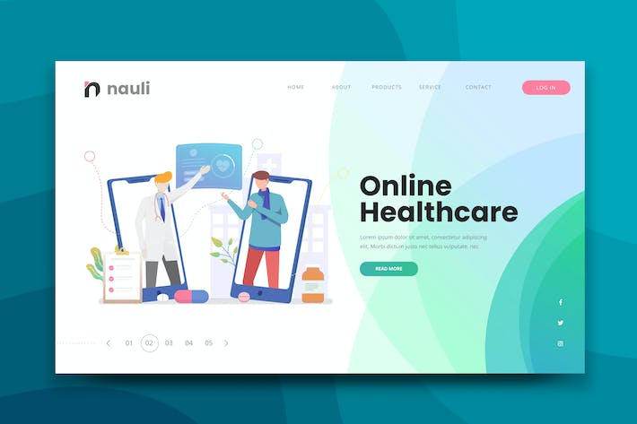 Thumbnail for Online Healthcare Web PSD and AI Vector Template
