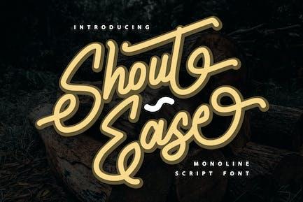 Shout Ease   Monoline Script Font