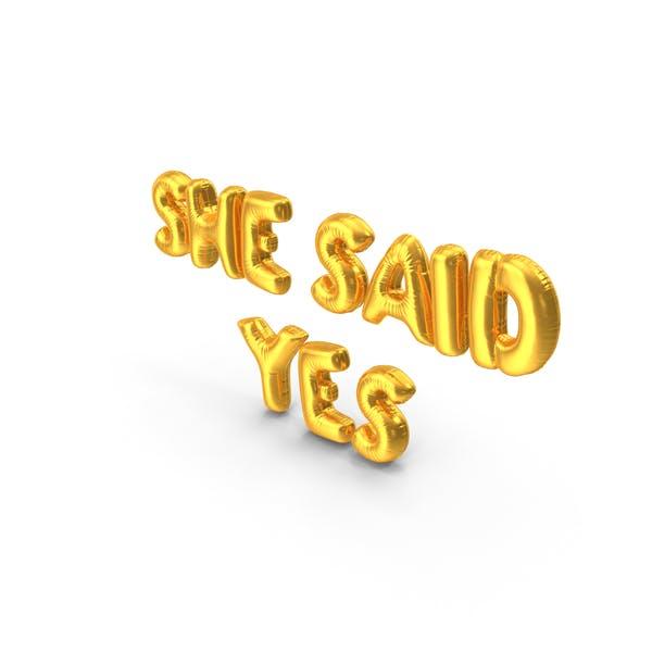 Thumbnail for She Said Yes Balloons