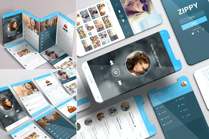 Thumbnail for iPhone App Mockups