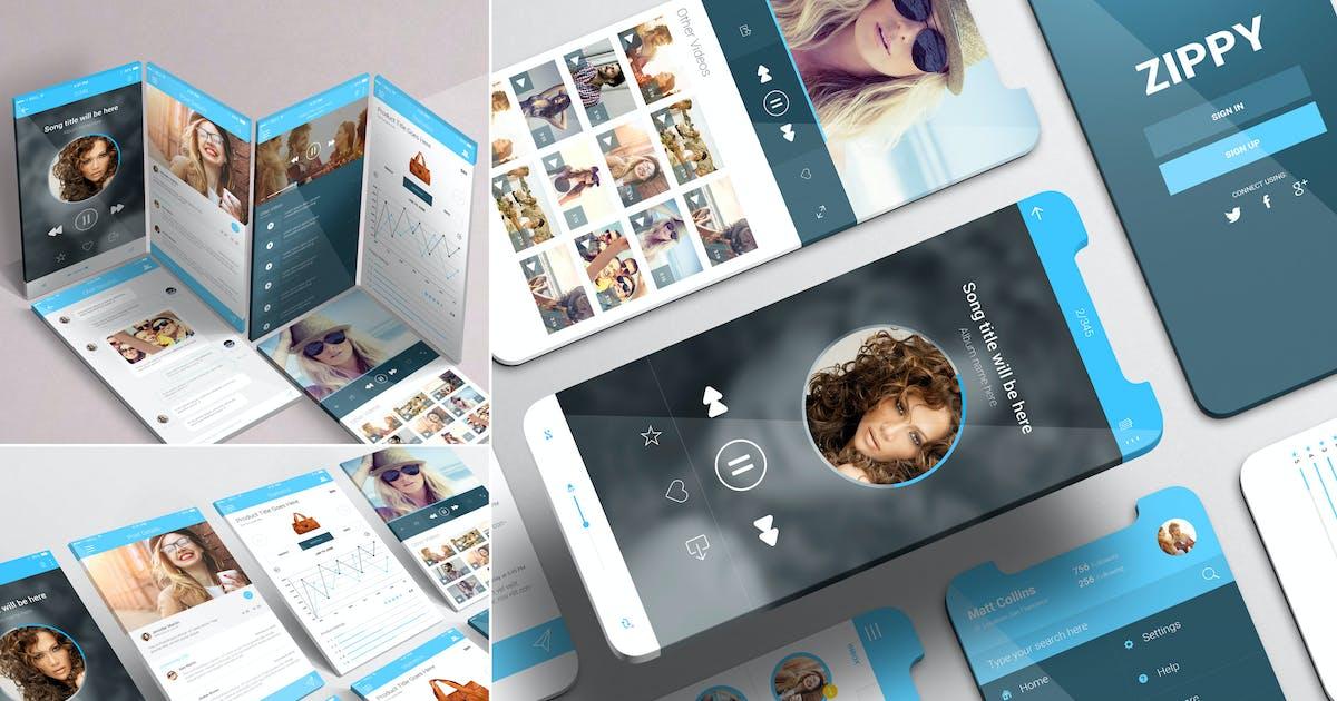 Download iPhone App Mockups by zippypixels