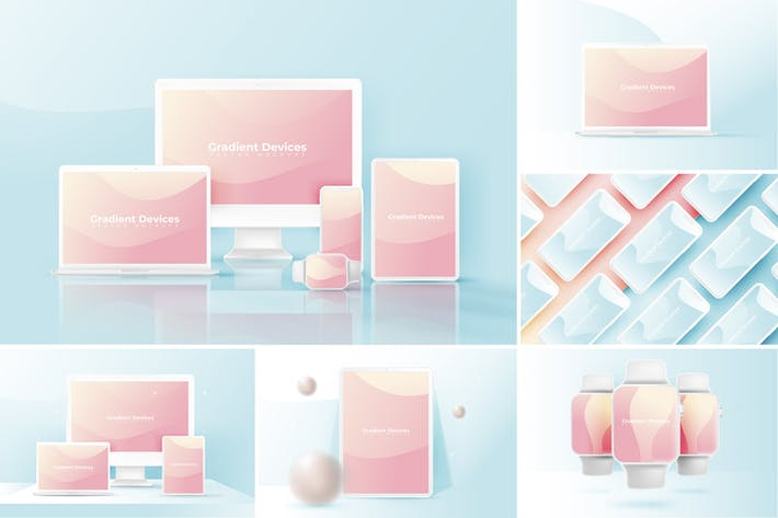 Thumbnail for Realistic & Colorful Vector Devices Mockups