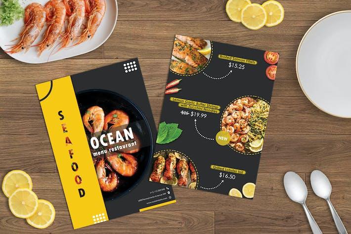 Modèle de conception de menu restaurant