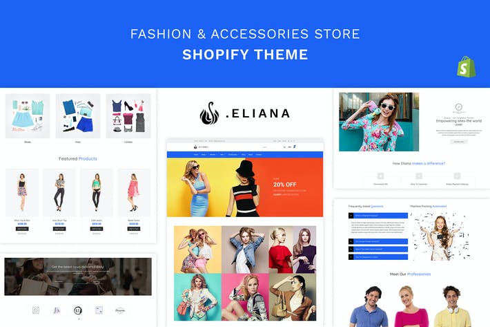 Thumbnail for Eliana - Girls Fashion, Accessories Store Shopify