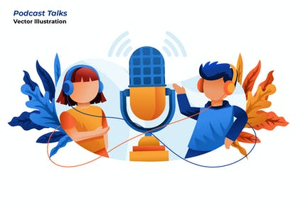 Podcast Talks - Vector Illustration