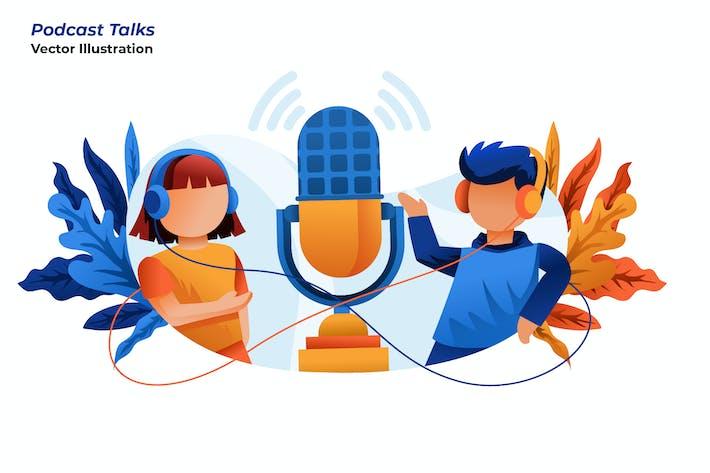 Thumbnail for Podcast Talks - Vector Illustration