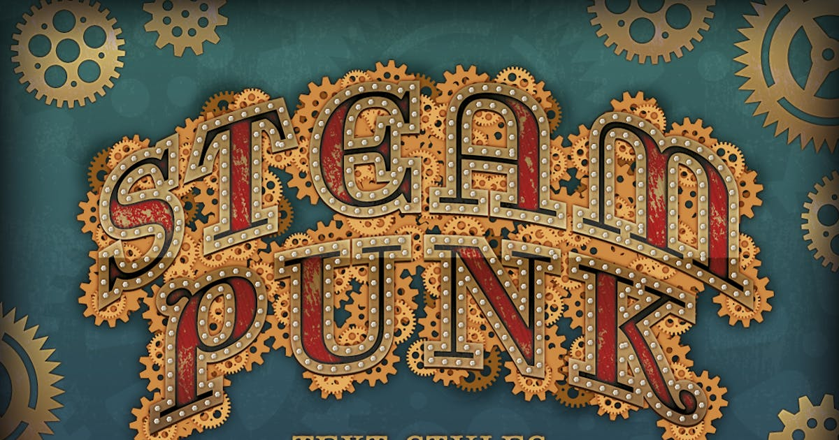 Steam Punk Text Styles, Brushes and Backgrounds by JRChild