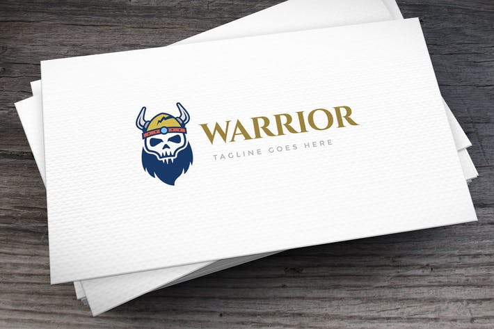 Thumbnail for Viking Warrior Logo Template