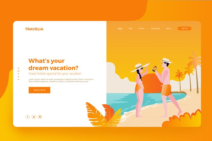Thumbnail for Travel booking App Vector Illustration