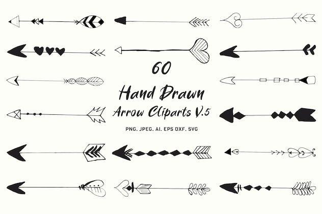 Hand Drawn Arrows Cliparts Ver. 5