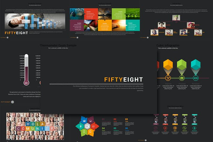Thumbnail for Fifty 8 - Powerpoint Template