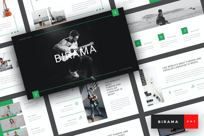 Thumbnail for Birama - Music PowerPoint Template