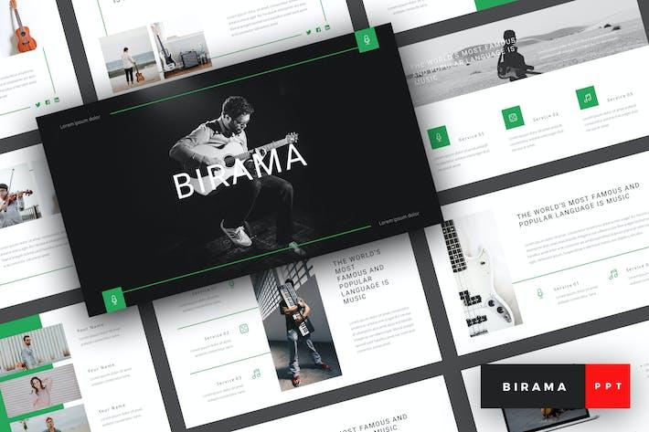 Thumbnail for Бирама - Музыка PowerPoint Шаблон