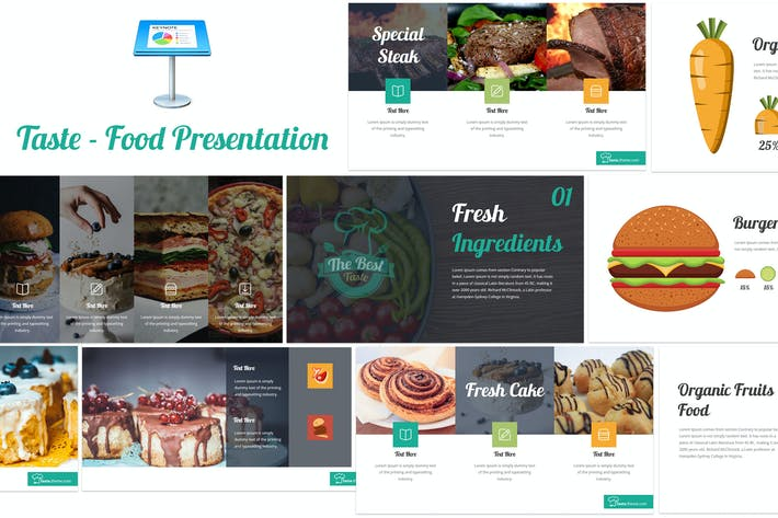 Thumbnail for Taste - Food Keynote Template