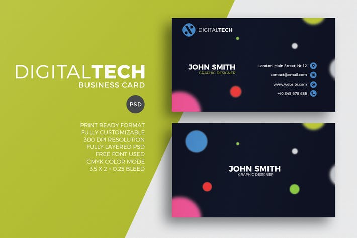 Thumbnail for Digital Tech Business Card