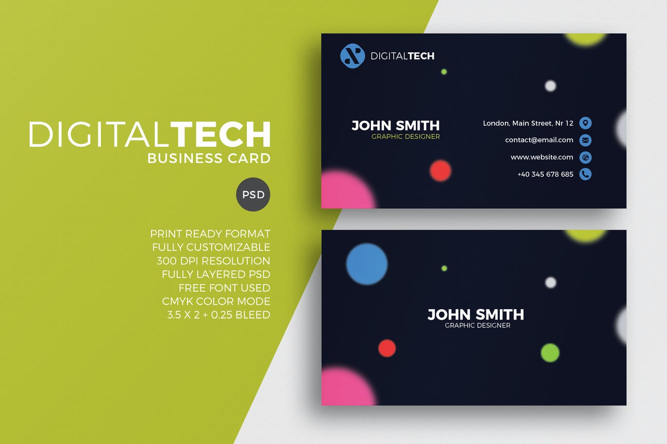 Digital Tech Business Card by EightonesixStudios on Envato Elements