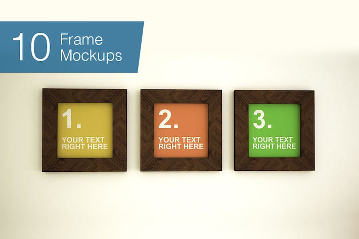 Thumbnail for Frame Mockups - 10 poses