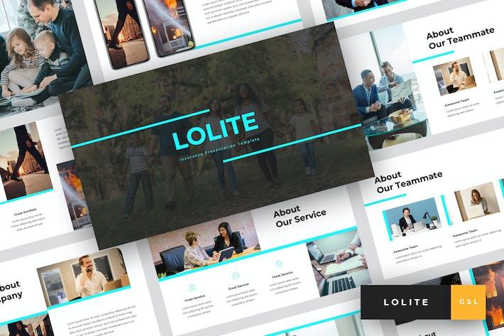 Thumbnail for Lolite - Insurance Google Slides Template