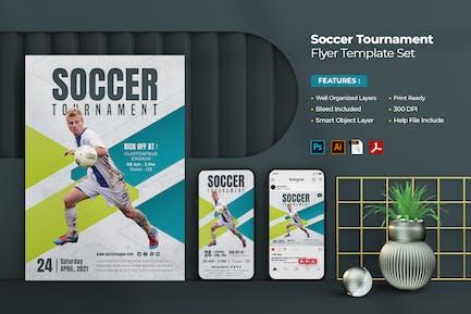 Soccer Flyer Template Set