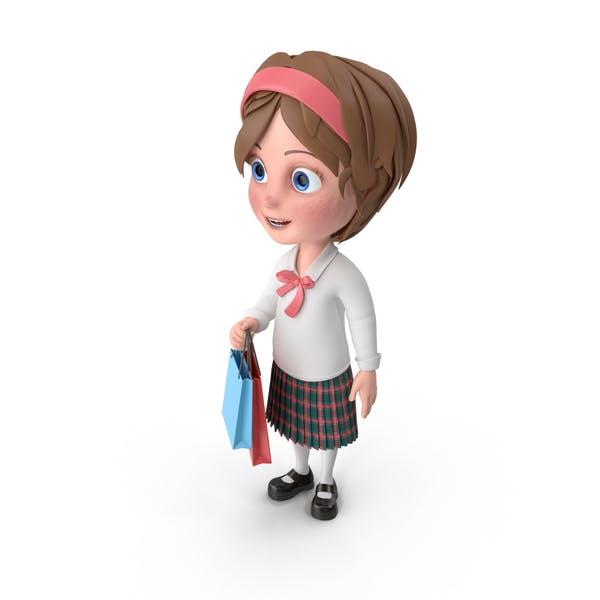 Thumbnail for Cartoon Girl Shopping