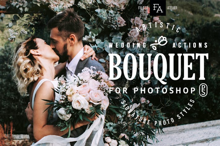 Thumbnail for Bouquet Wedding Actions for Photoshop