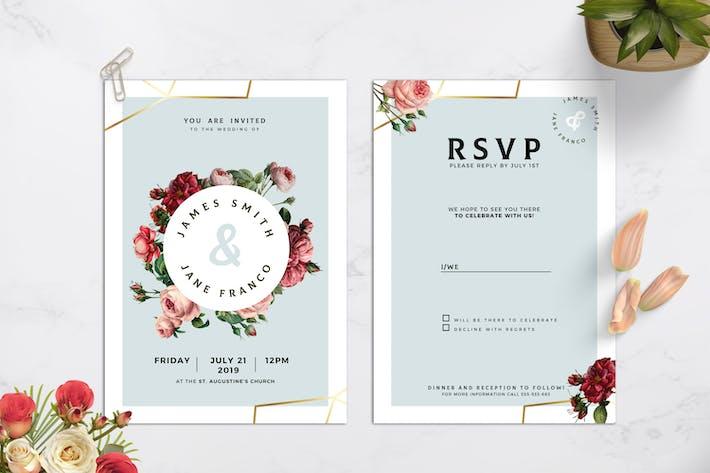 Thumbnail for Modèle d'invitation de mariage vintage