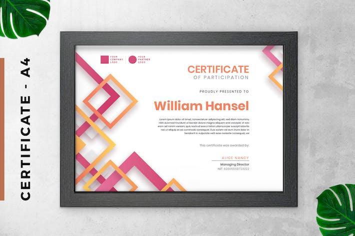 Thumbnail for Rosa modernes Zertifikat/DiplomVorlage