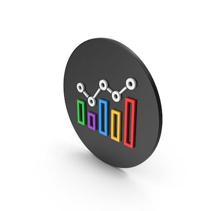 Multicolored Graph Icon