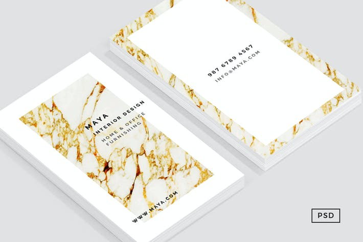 Thumbnail for Gold Marble Business Card Template