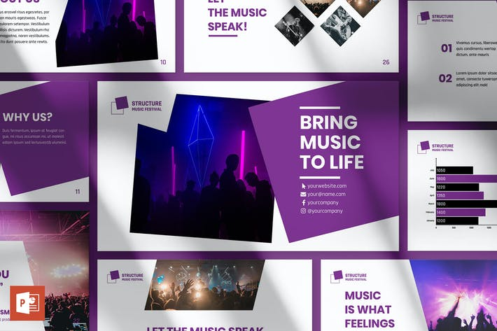Thumbnail for Music Festival PowerPoint Presentation Template