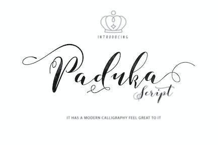 Paduka Script + Webfonts