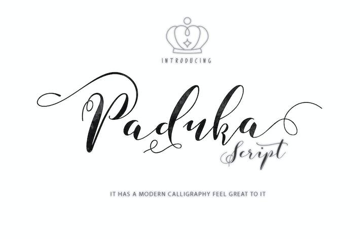 Thumbnail for Paduka Script + Webfonts