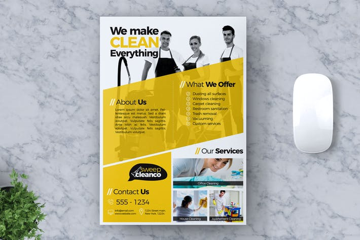 Thumbnail for Cleaning Service Flyer Template Vol #03