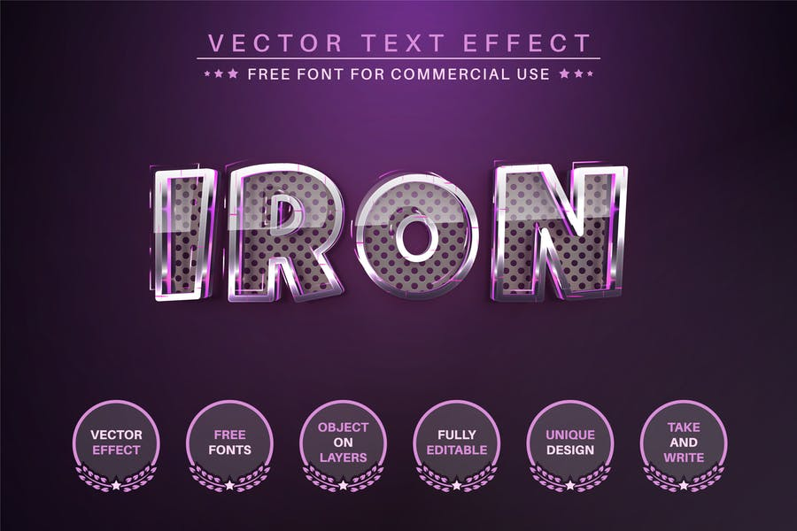 Stylish Metal - Editable Text Effect, Font Style