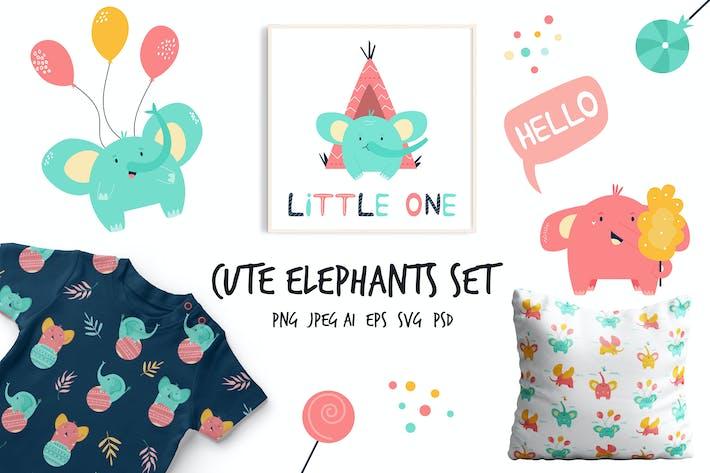 Thumbnail for Симпатичные маленькие слоны Набор для детских конструкций