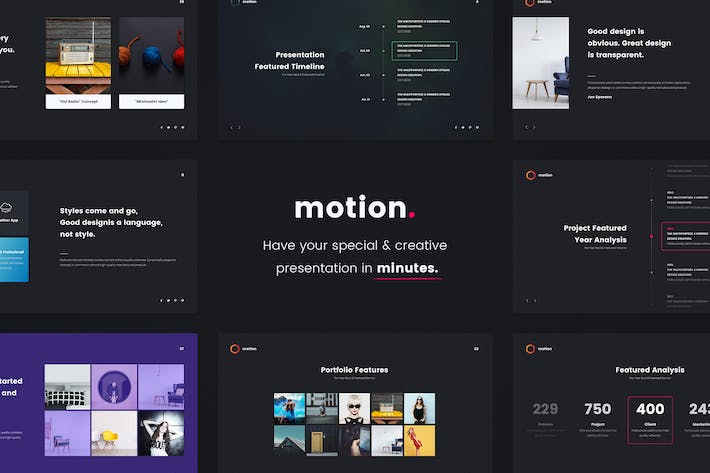 Thumbnail for MOTION - Creative Powerpoint Template