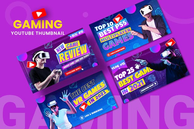Livestream Gaming Youtube Thumbnail Template