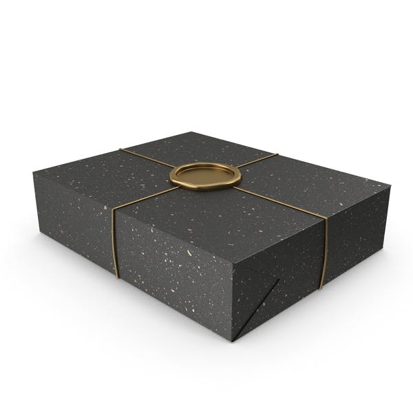 Black and Gold Gift Wrapping with a Wax Seal