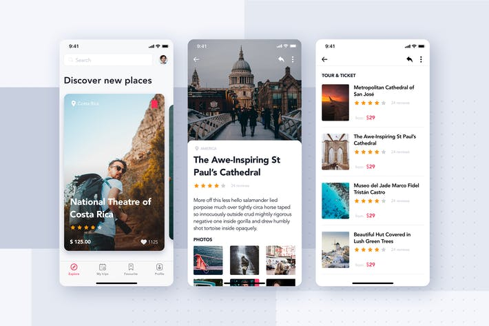 Thumbnail for Travel Booking App Concept