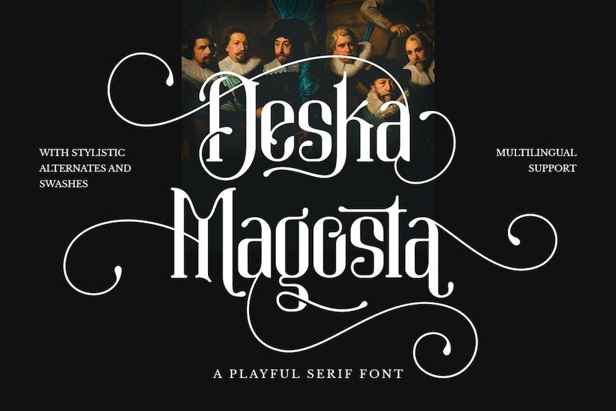 Deska Magosta - Отображаемый шрифт