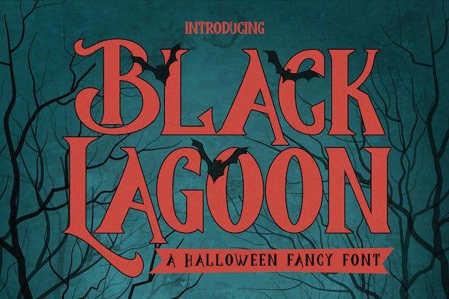 BlackLagoon - Halloween Fancy Font