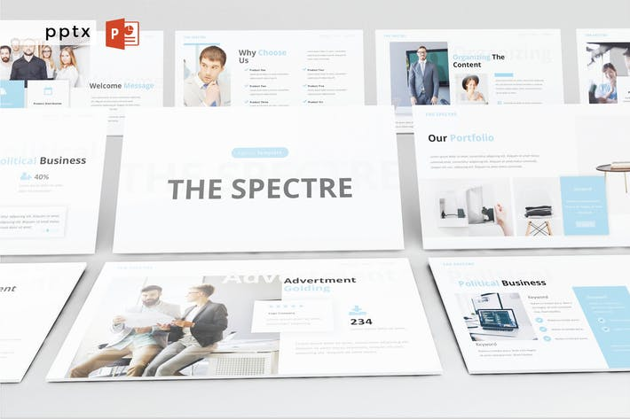 Thumbnail for THE SPECTRE - Powerpoint V398
