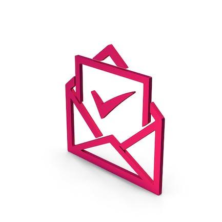 Envelope With Check Mark Metallic