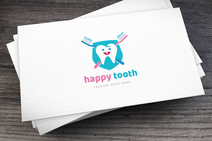 Thumbnail for Happy Tooth Logo Template
