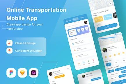 Appli mobile de transport en ligne
